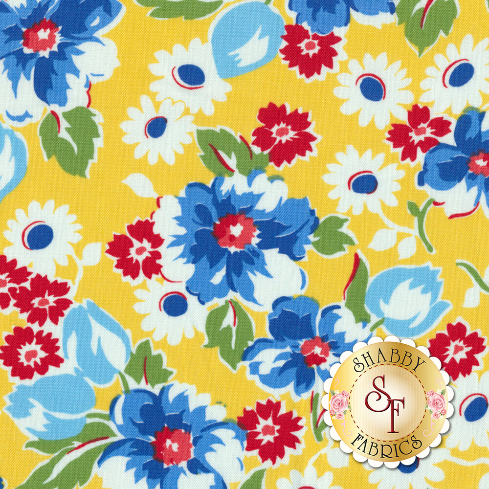 Sugar Sack 50429-3 Yellow Floral by Windham Fabrics