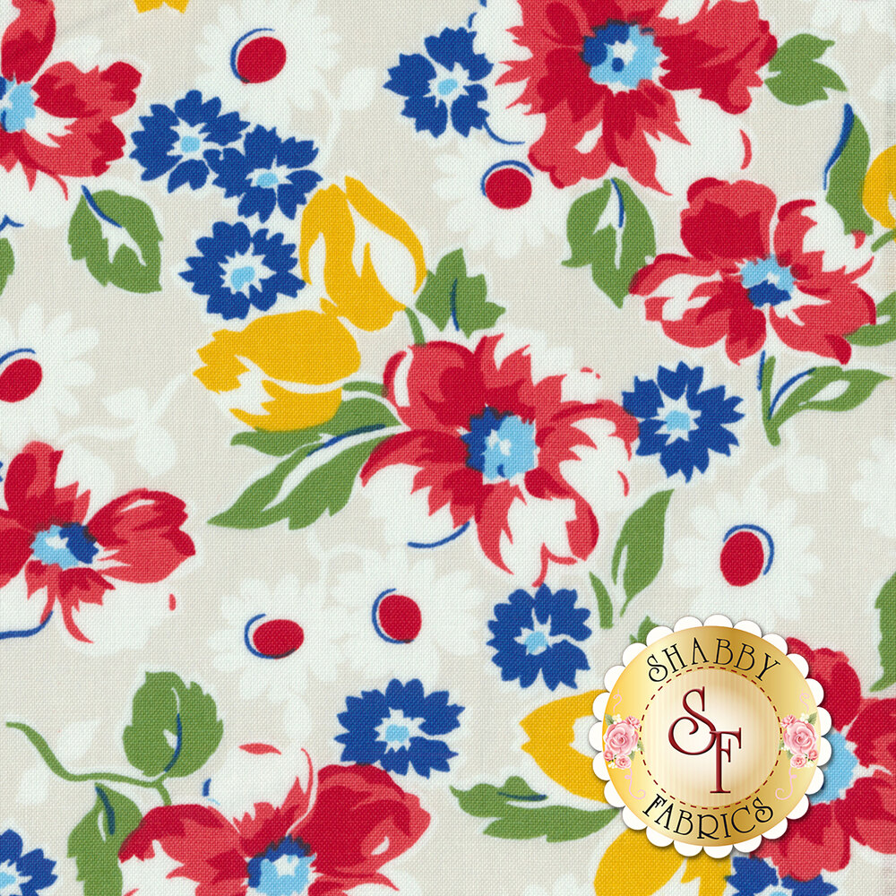 Sugar Sack 50429-4 Pearl Floral by Windham Fabrics