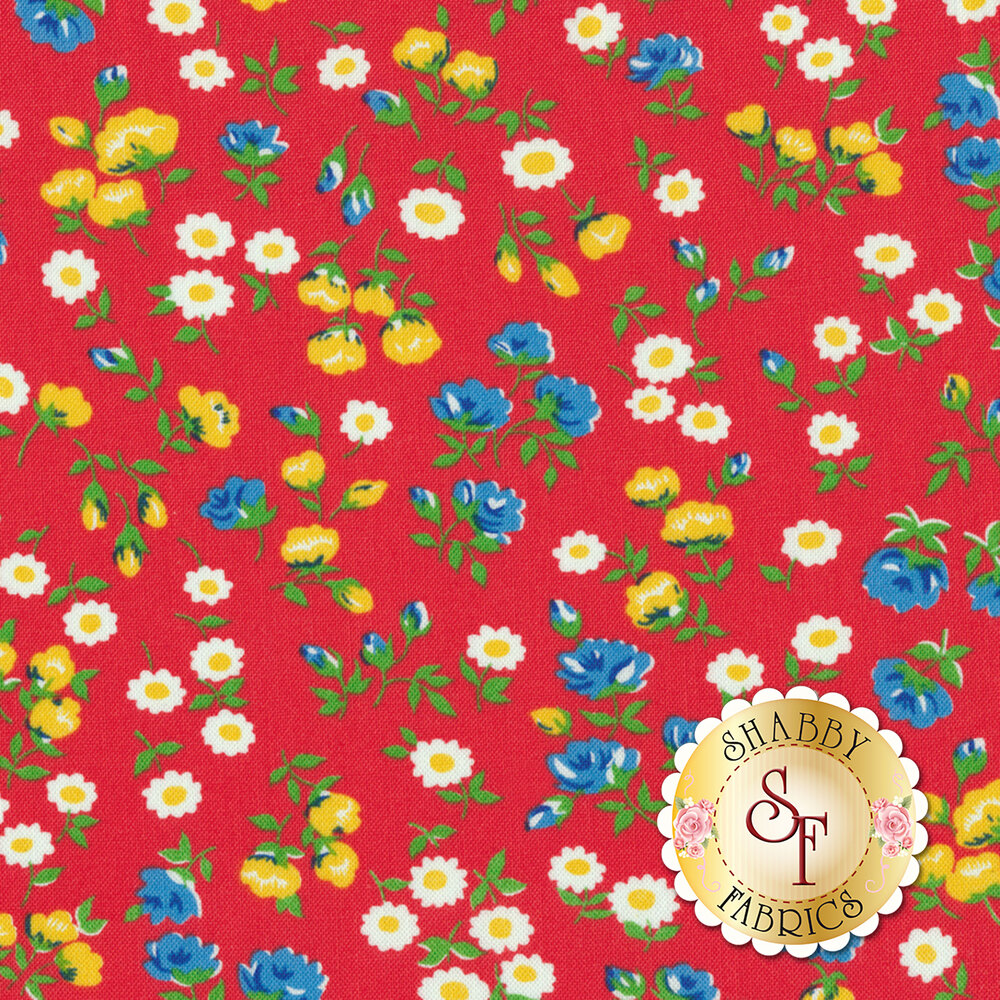 Sugar Sack 50430-1 Red Mini Floral by Windham Fabrics