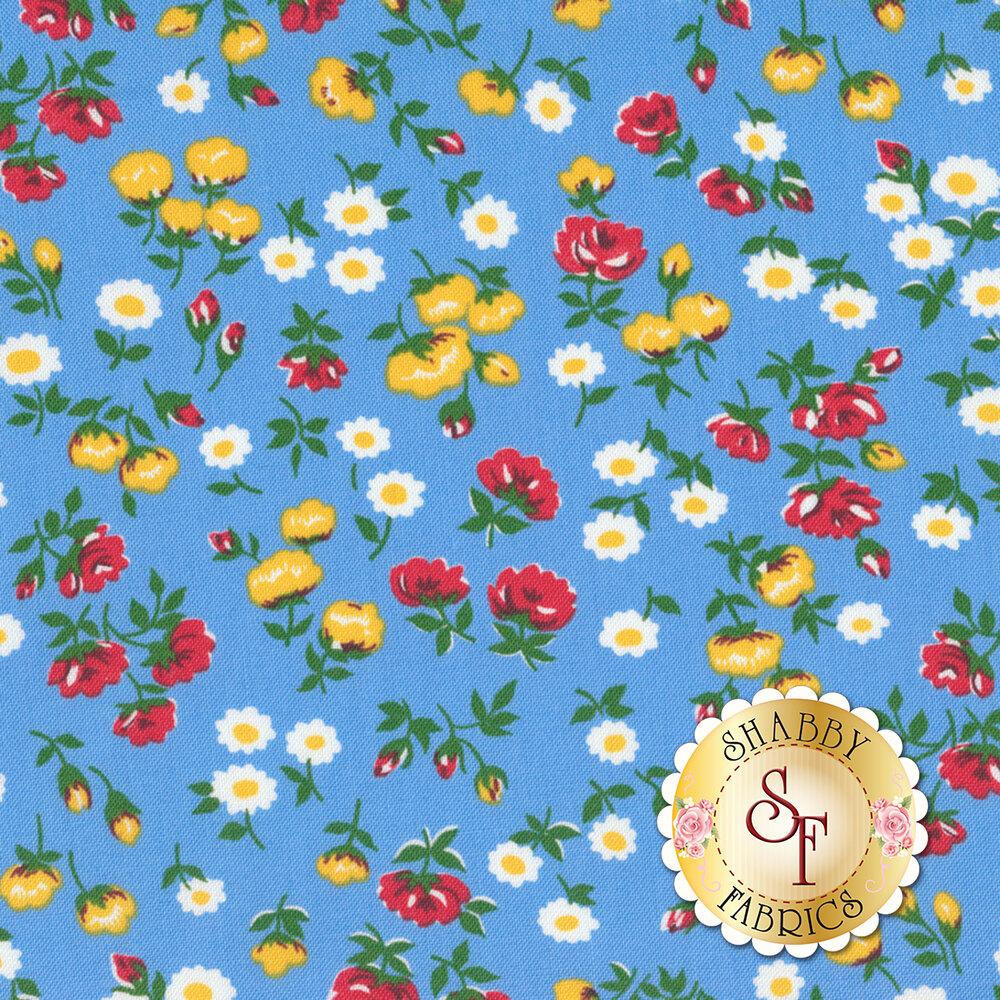Sugar Sack 50430-2 Blue Mini Floral by Windham Fabrics