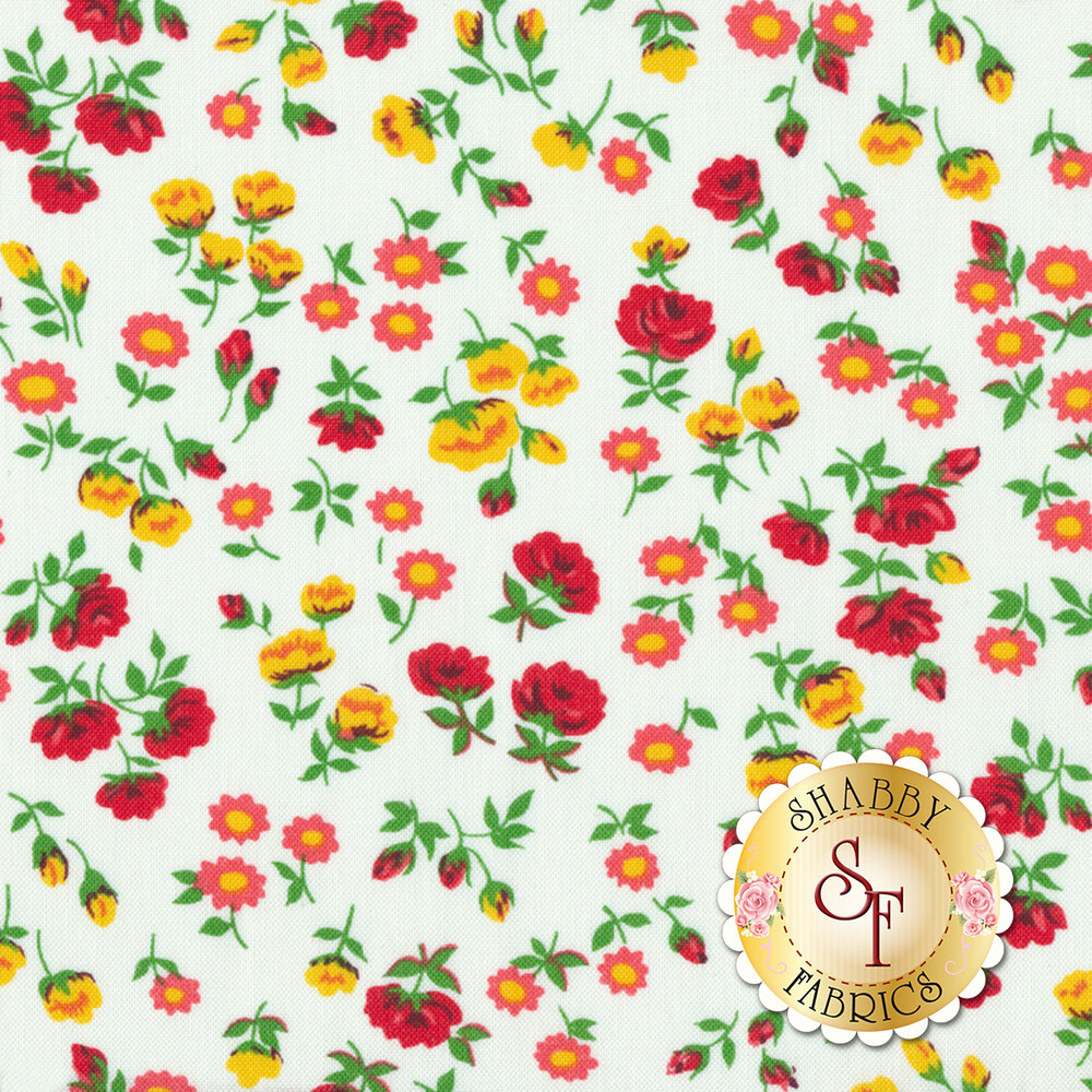 Sugar Sack 50430-5 Mini Floral Ivory by Windham Fabrics