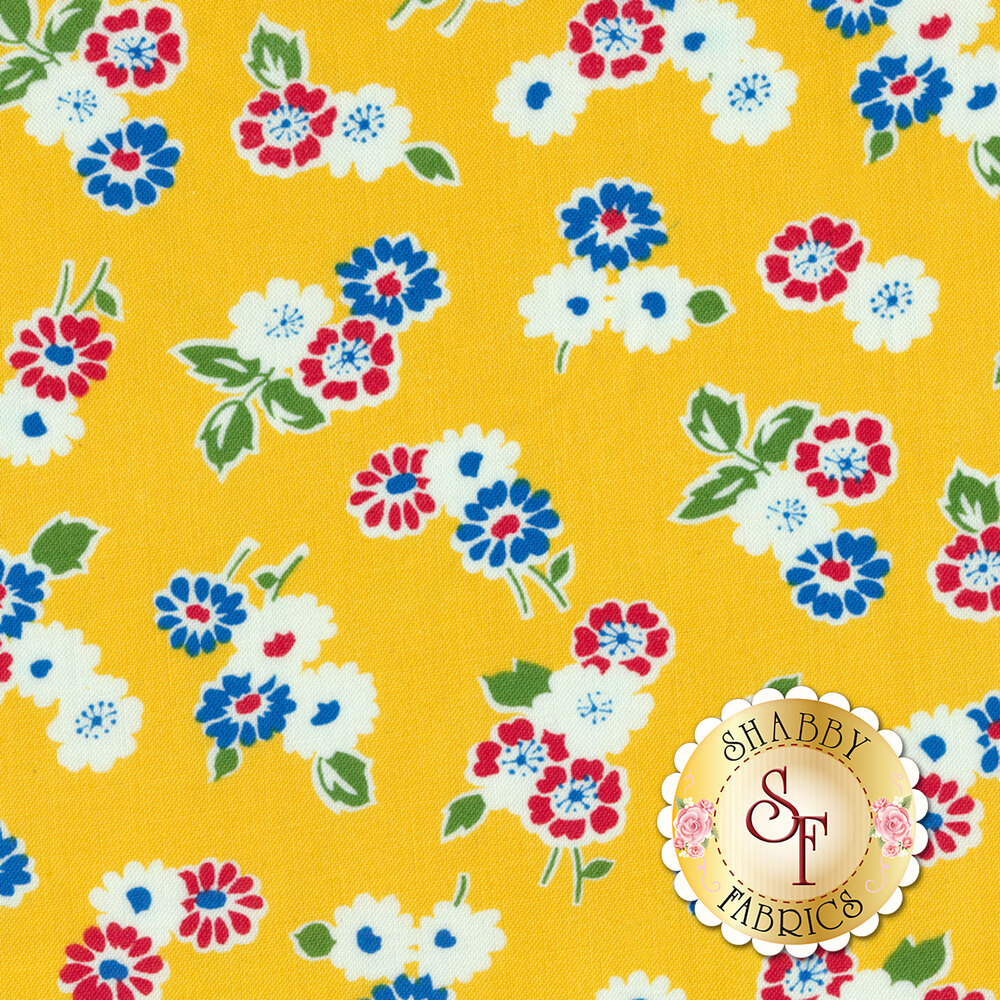Sugar Sack 50435-3 Yellow Tossed Floral by Windham Fabrics