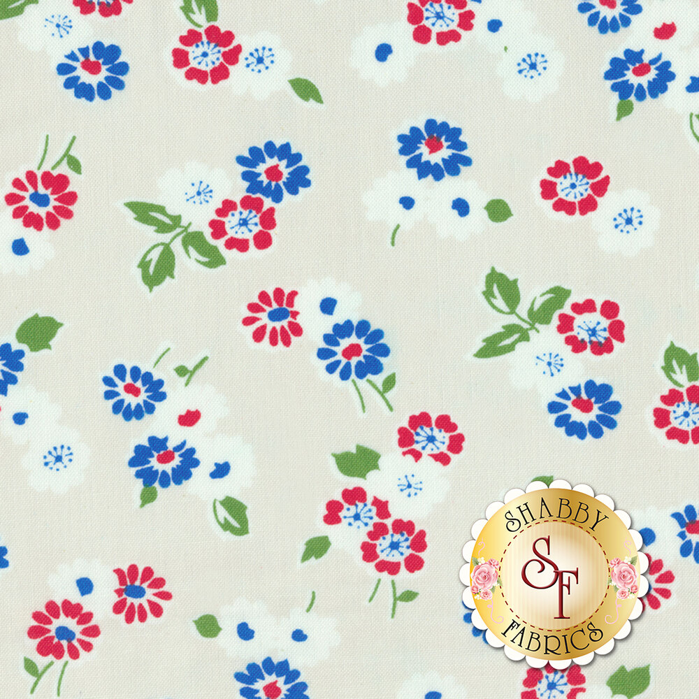 Sugar Sack 50435-4 Pearl Tossed Floral by Windham Fabrics