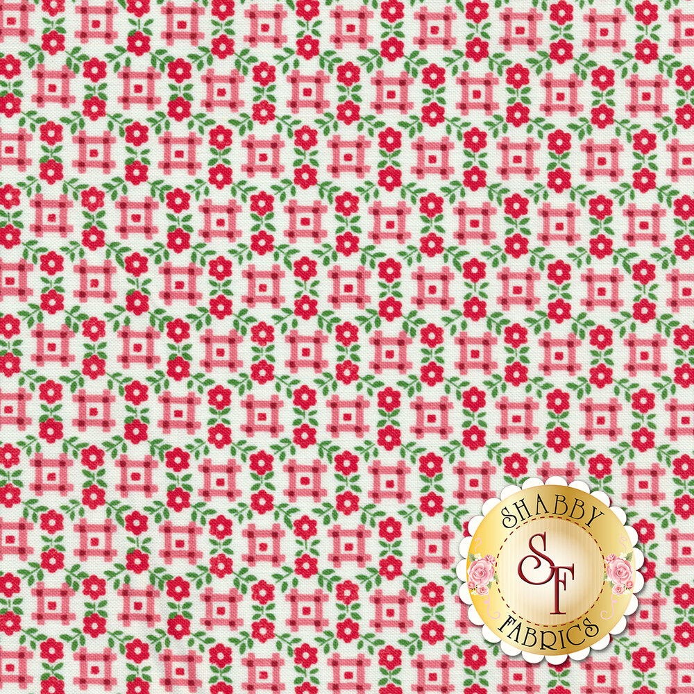 Sugar Sack 50436-1 Red Gingham Floral by Windham Fabrics