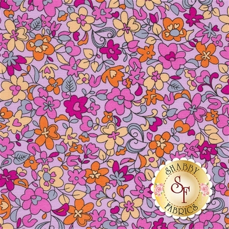 Summer Garden 1309-06 Floret Light Violet by Benartex Fabrics