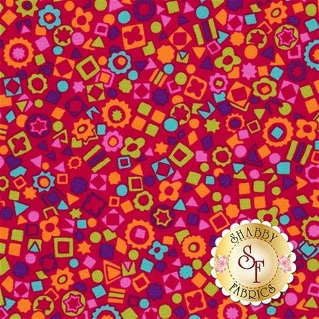 Summer Garden 1311-10 Bloom Red by Benartex Fabrics