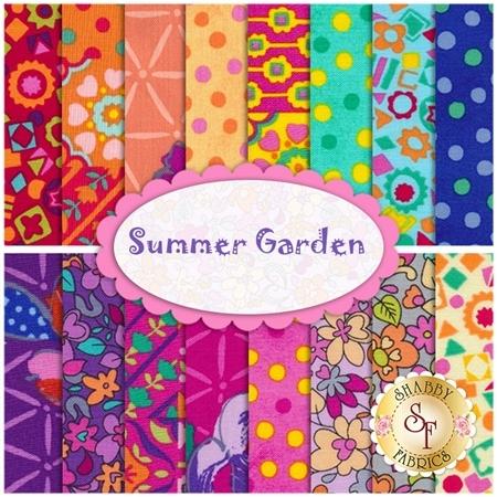 Summer Garden  16 FQ Set by Benartex Fabrics