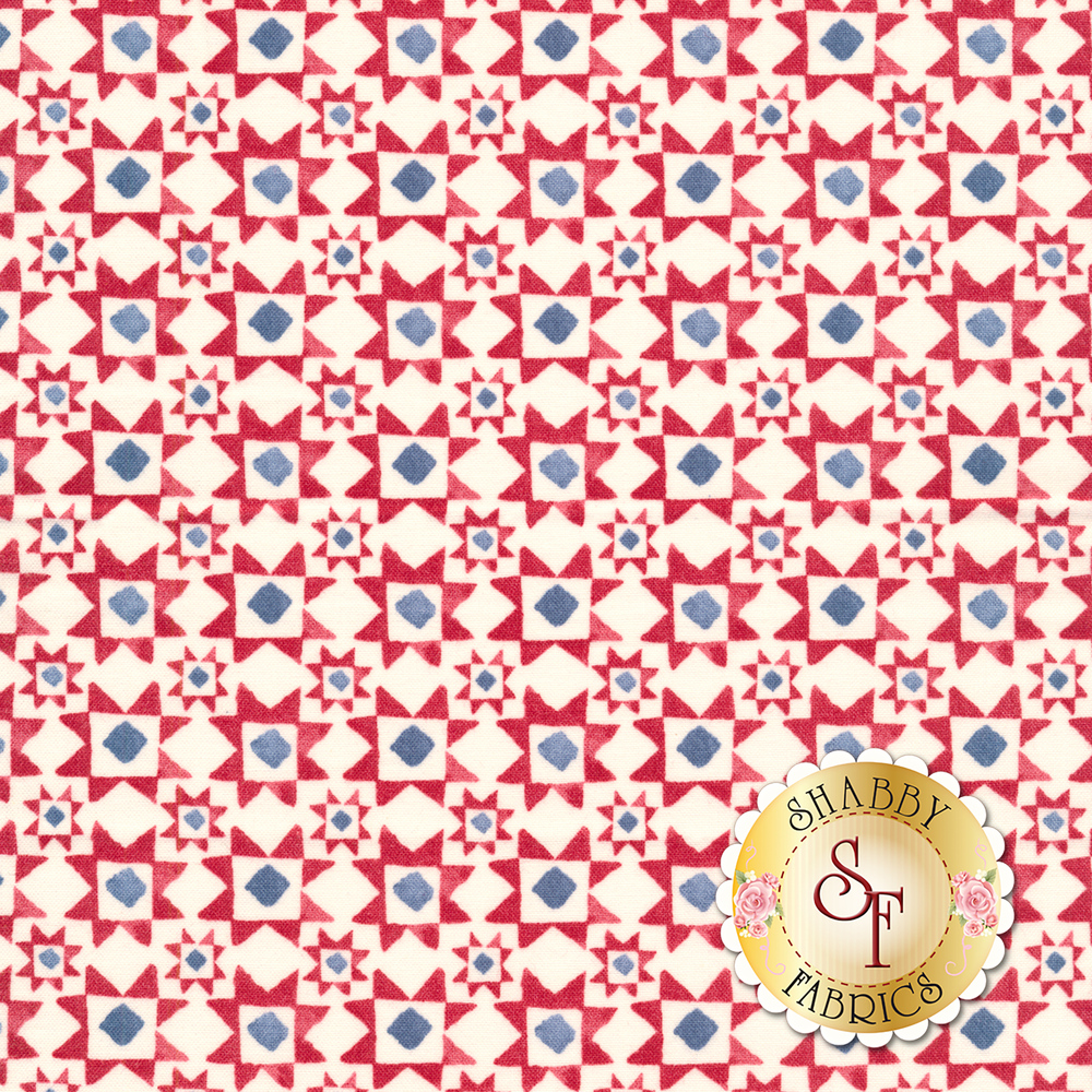 Red, white, and blue block design | Shabby Fabrics