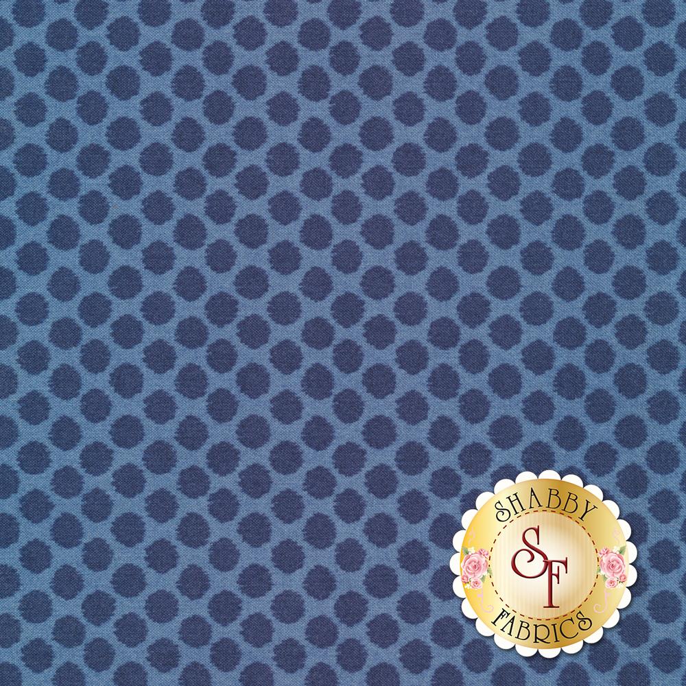 Tonal polka dots all over blue | Shabby Fabrics