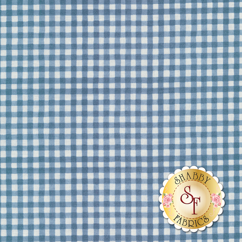 Blue gingham fabric | Shabby Fabrics