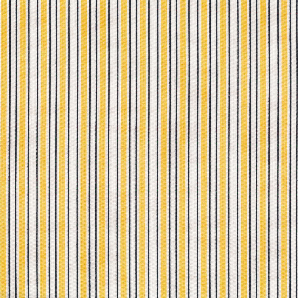 White and yellow stripes with a distressed textured look | Shabby Fabrics