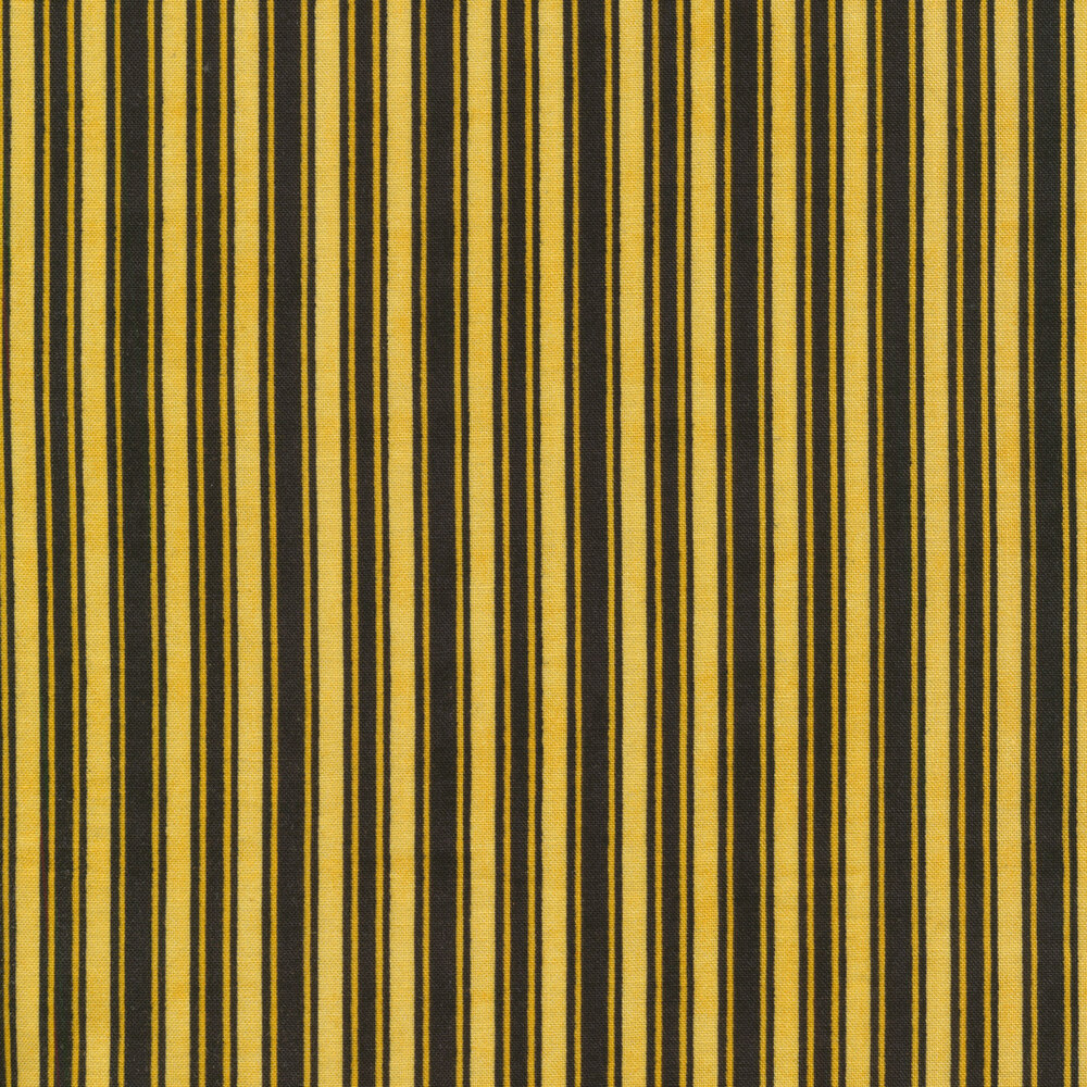 Black and yellow stripes with a distressed textured look | Shabby Fabrics