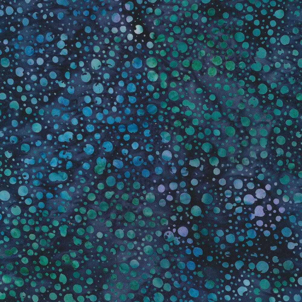 Mottled dots on a mottled blue background