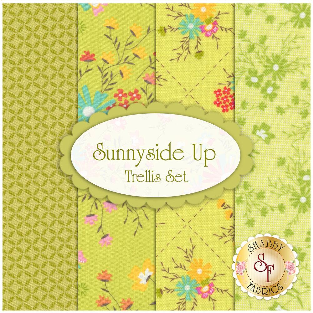 Sunnyside Up 4 FQ Set - Trellis Set by Corey Yoder