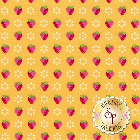 Sunrise Studio 2 LHC14047-YELLOW Yellow Small Strawberries by Holly Holderman for Lakehouse Dry Goods