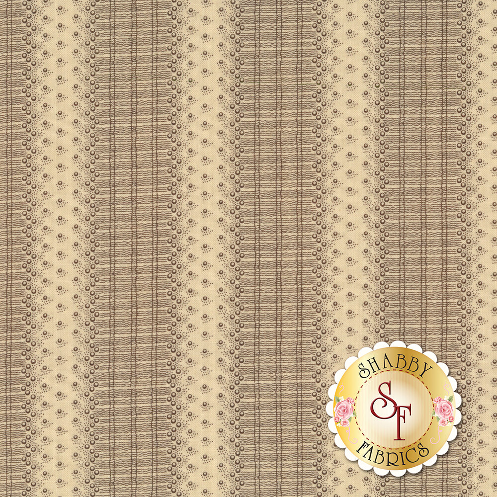 Tonal striped lace print   Shabby Fabrics