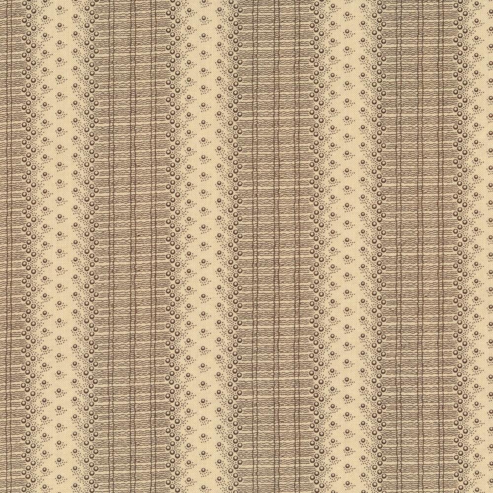 Tonal striped lace print | Shabby Fabrics