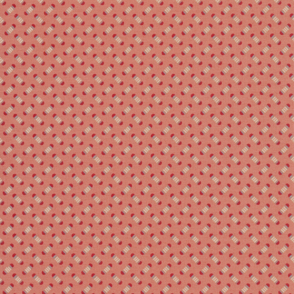 Small alternating pea pods on a pink background | Shabby Fabrics