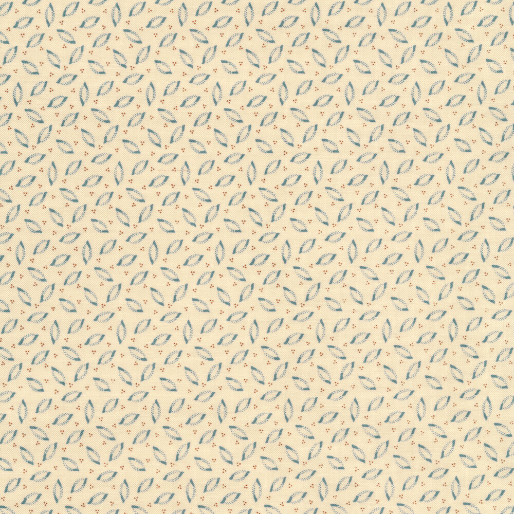 Tossed leaves all over a cream background | Shabby Fabrics