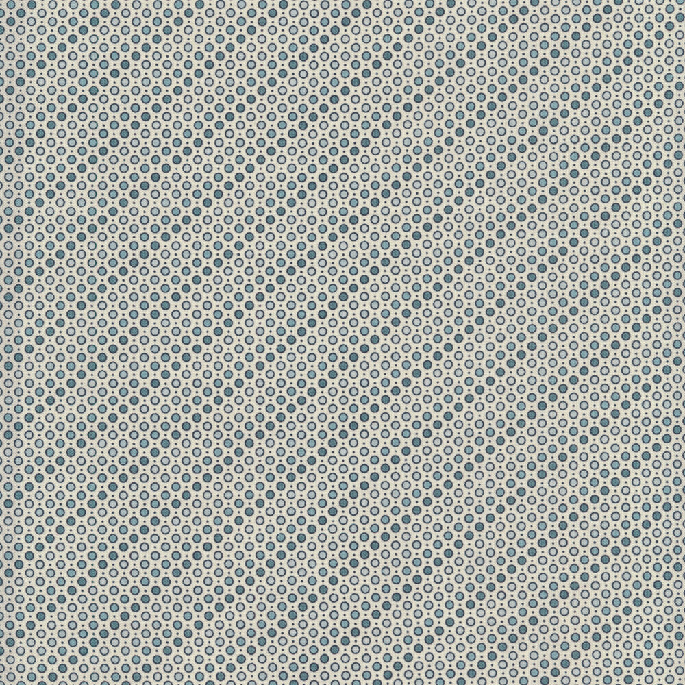 Diagonal striped circles on a cream background | Shabby Fabrics