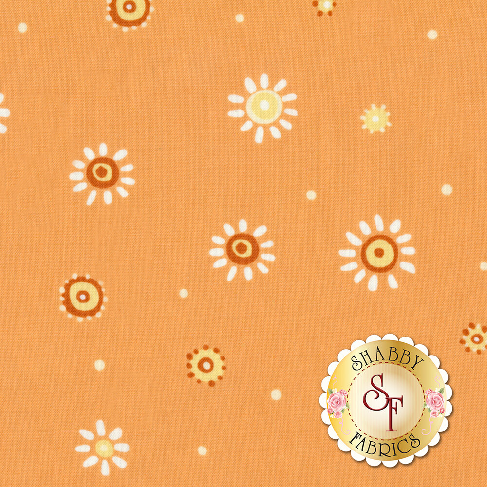 Susybee Buddies 20104-430 Dots Tangerine by Hamil Textiles
