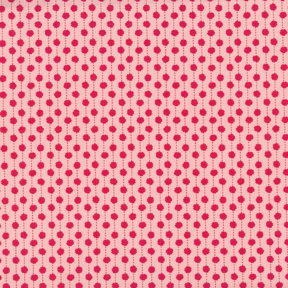 Red stripes on a pink background