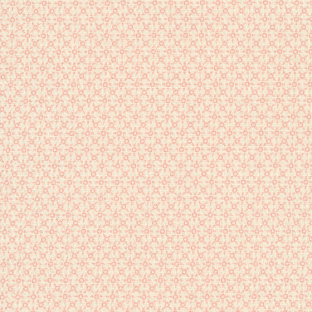 Pink ditsy print on a white background