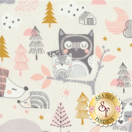 Sweet Dreams 101.130.01.1 Sleepyheads Pink by Maude Asbury for Blend Fabrics REM A