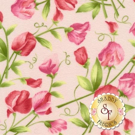 Sweet Pea Flannel F8121-P by Maywood Studio Fabrics