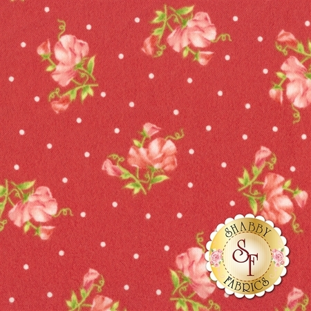 Sweet Pea Flannel F8123-R by Maywood Studio Fabrics