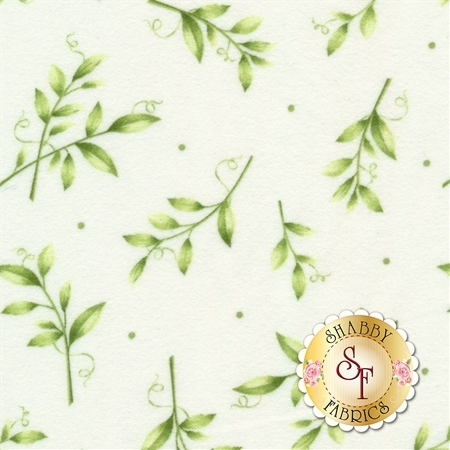 Sweet Pea Flannel F8124-W by Maywood Studio
