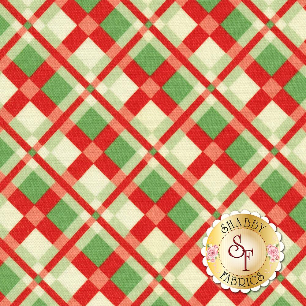 Swell Christmas 31122-11 Plaid Red for Moda Fabrics