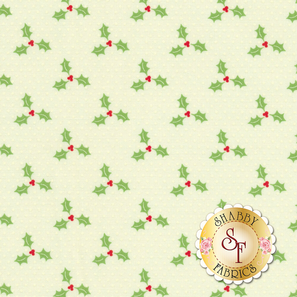Swell Christmas 31126-21 Holly Natural for Moda Fabrics