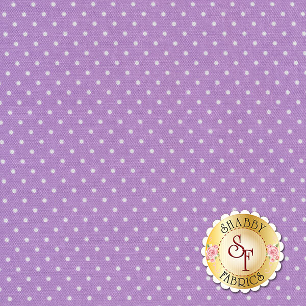 Lavender with little white polka dots