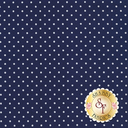 Swiss Dot C670-21 NAVY by Riley Blake Designs