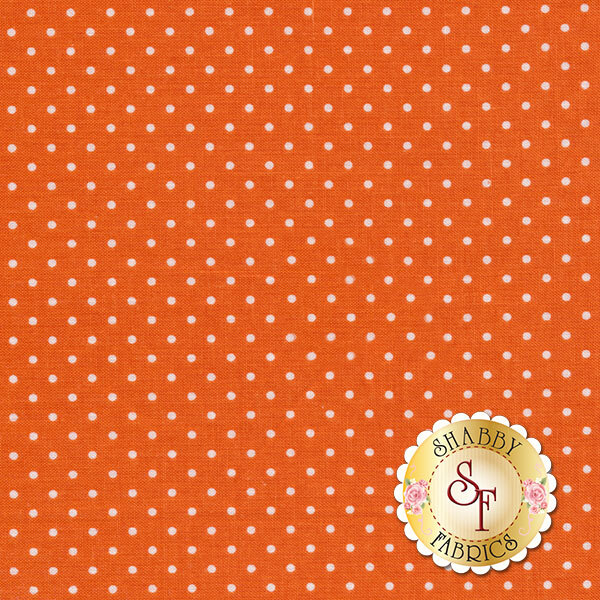 Swiss Dots C670-60 Orange By Riley Blake Designs- REM