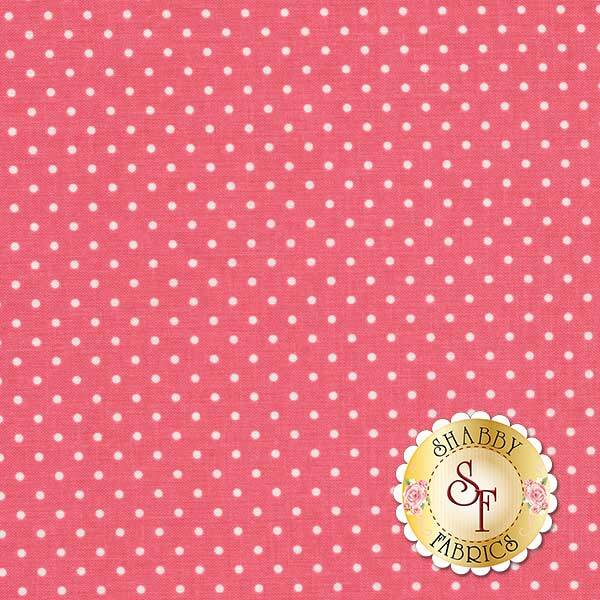 Small white polka dots on pink | Shabby Fabrics
