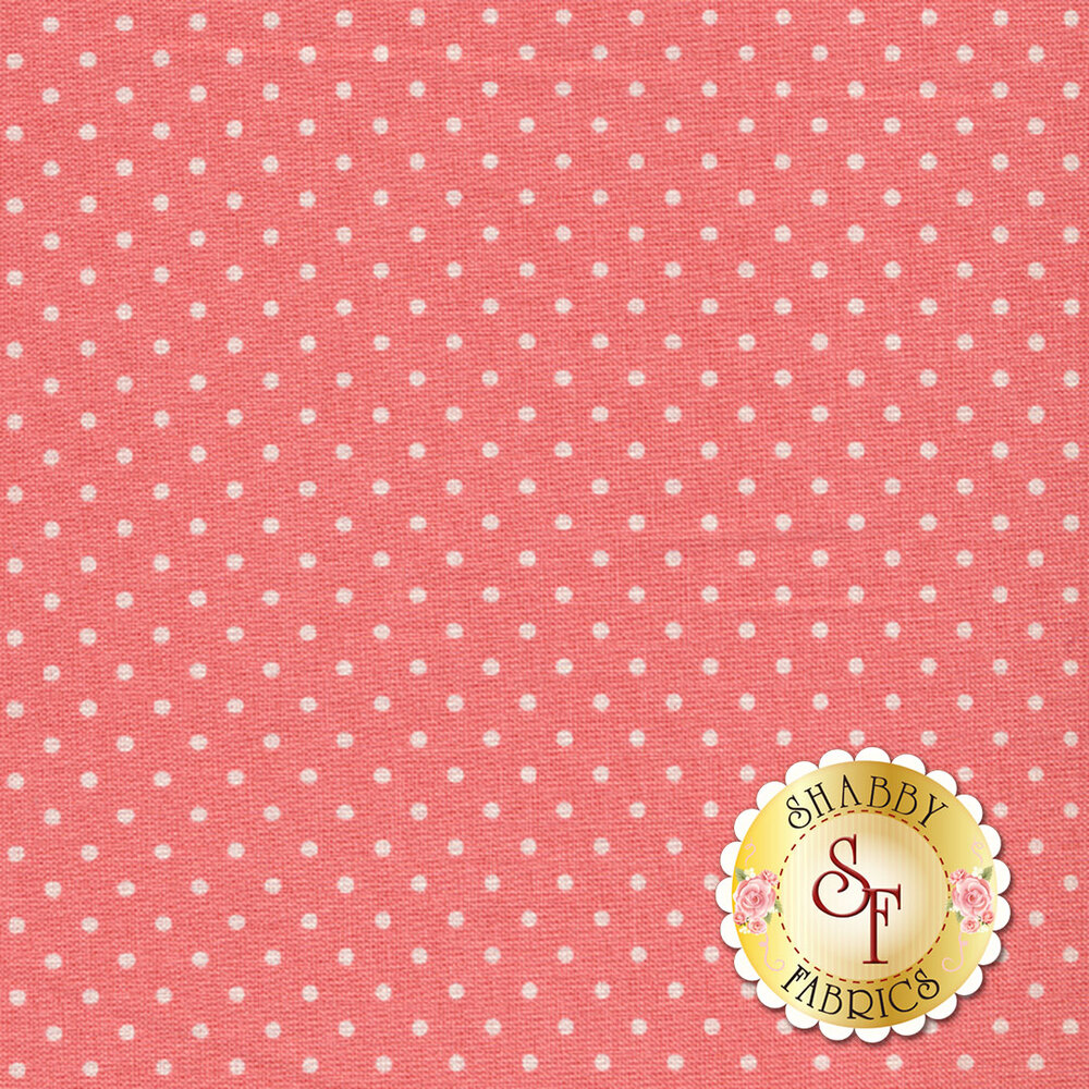 Swiss Dots C670-CORAL by Riley Blake Designs