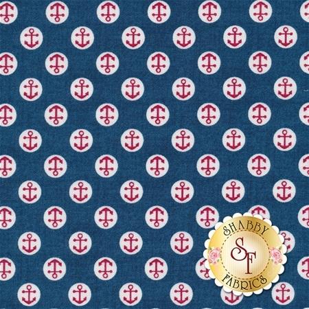 Ahoy TP-1470-B by Makower Uk for Andover Fabrics REM E