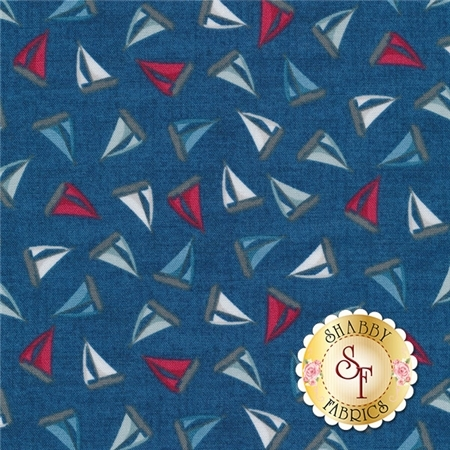 Ahoy TP-1474-B by Makower Uk for Andover Fabrics