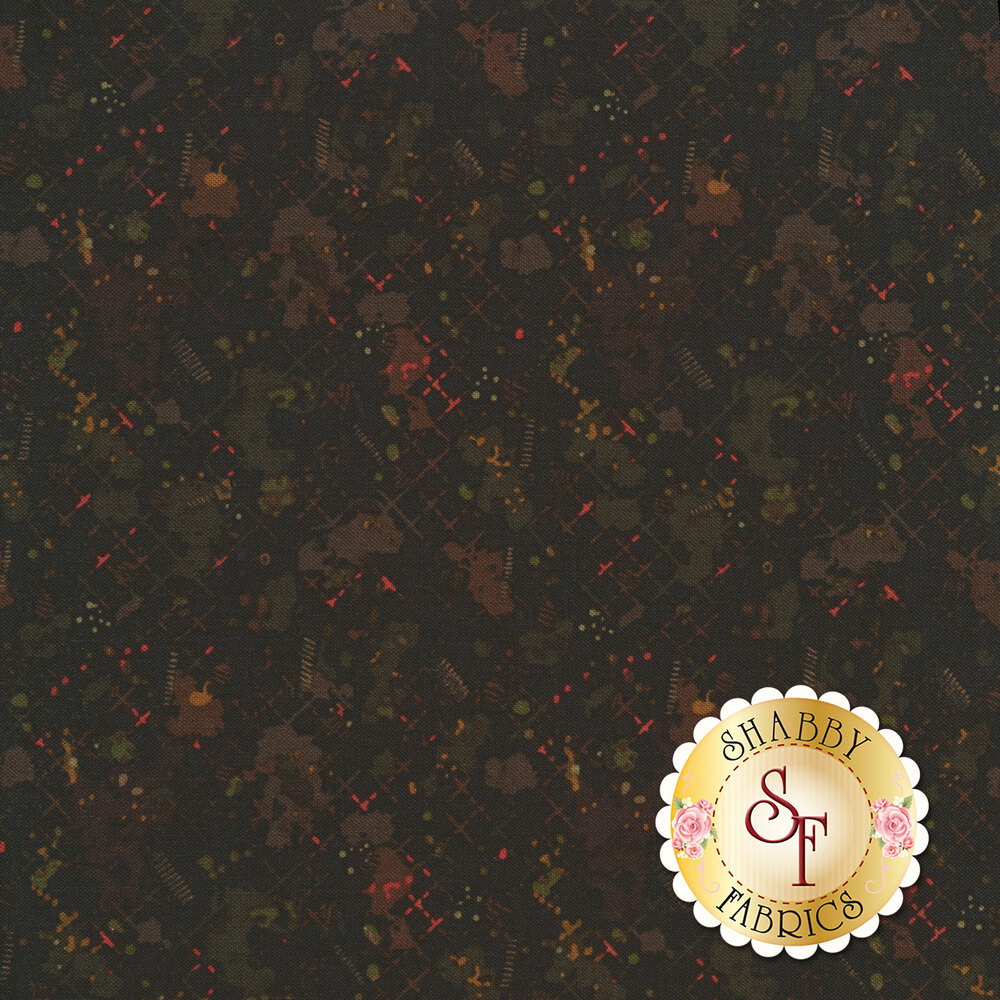 Colorful splotches all over brown | Shabby Fabrics