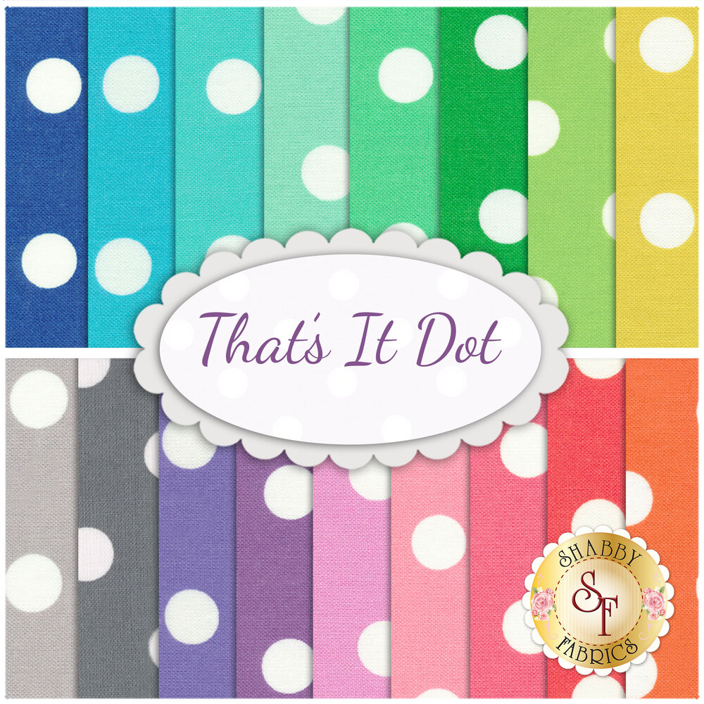 That's It Dot  17 Fat Quarter Set by Michael Miller Fabrics available at Shabby Fabrics