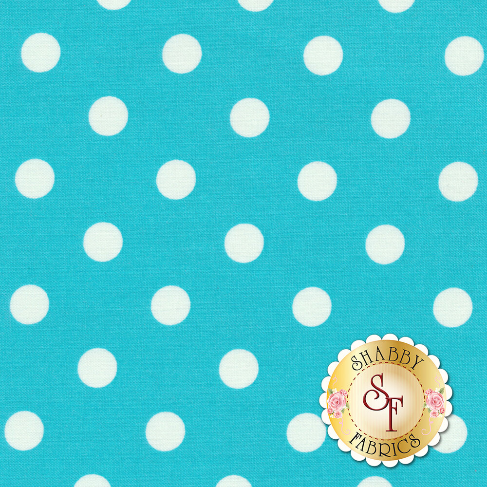 That's It Dot CX2489-TURQ by Michael Miller available at Shabby Fabrics