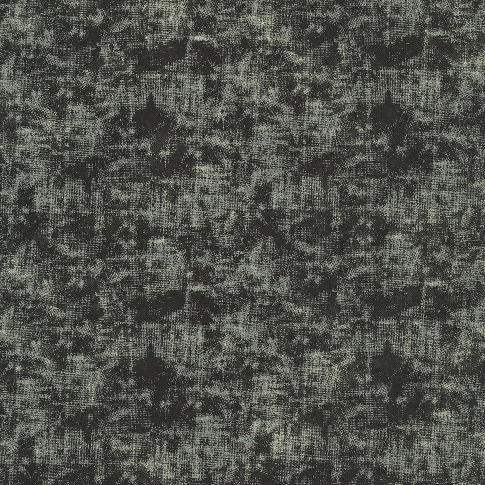 Black fabric with grunge look | Shabby Fabrics
