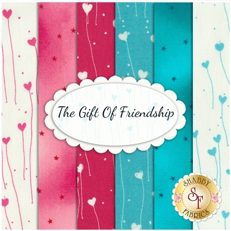 The Gift Of Friendship  6 FQ Set by Quilting Treasures Fabrics