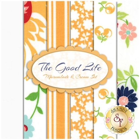 The Good Life  6 FQ Set - Marmalade & Cream Set by Bonnie & Camille for Moda Fabrics