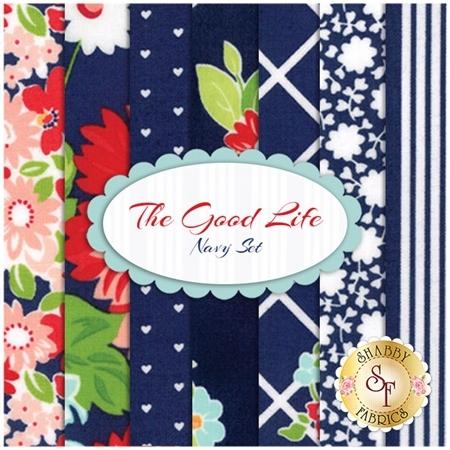The Good Life  7 FQ Set - Navy Set by Bonnie & Camille for Moda Fabrics