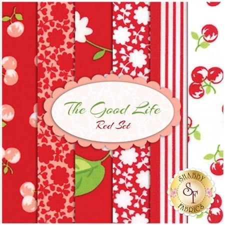 The Good Life  6 FQ Set - Red Set by Bonnie & Camille for Moda Fabrics