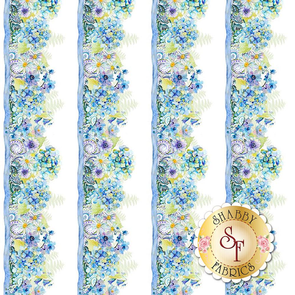 Floral border stripe design | Shabby Fabrics