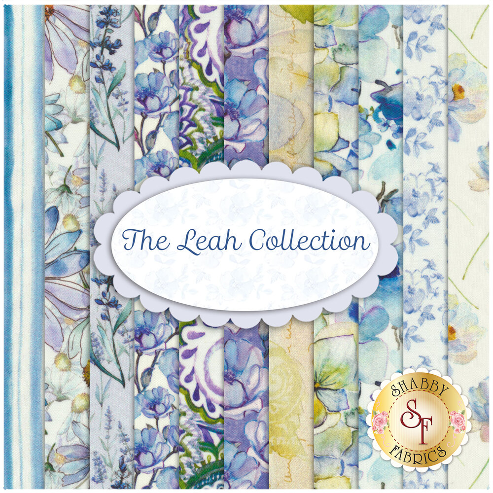 Collage of fabrics in The Leah Collection FQ Set | Shabby Fabrics